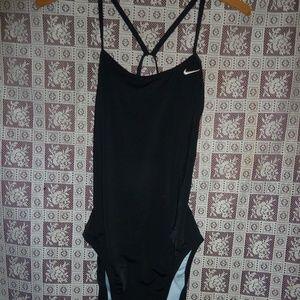 Black One piece Nike Swimsuit Women's size 8